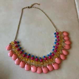 3 for $15 😍 pink and gold tone statement necklace